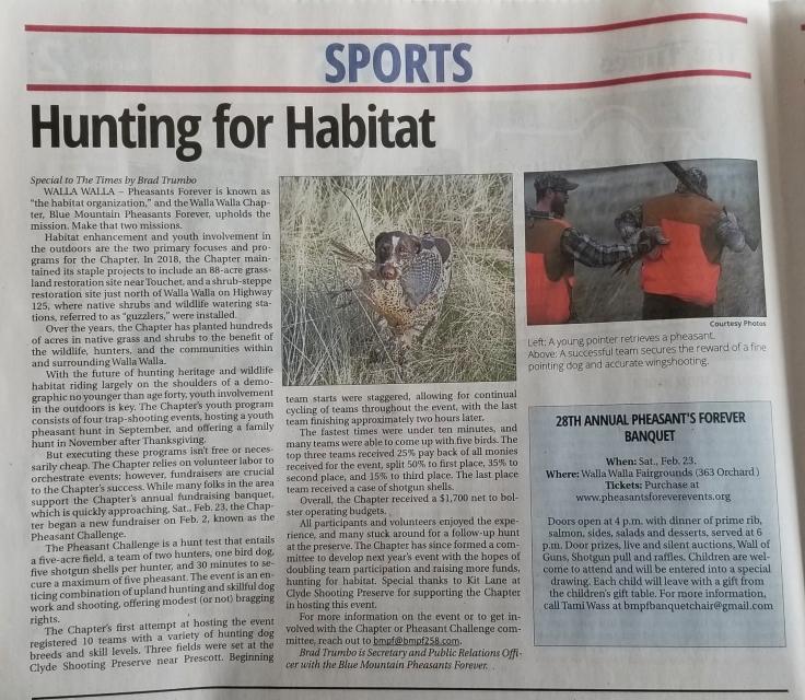 14 Feb 2019 Hunting for Habitat